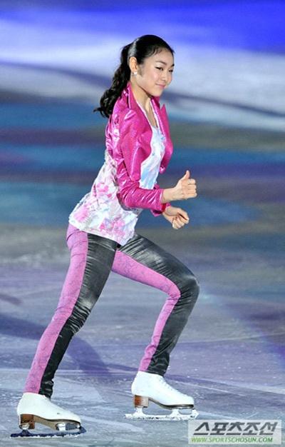 Kim Yu Na nhí nhảnh trên sân băng 6
